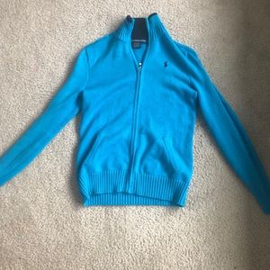 Light blue polo jacket